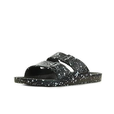 c7158c43cf3849 Moses Freedom Slippers Black Splatter BLACKSPLATTER, Sandals: Amazon.co.uk:  Shoes & Bags
