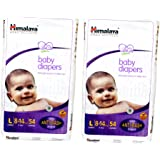 Himalaya Baby Large Size Diapers (54 Count) Pack of 2