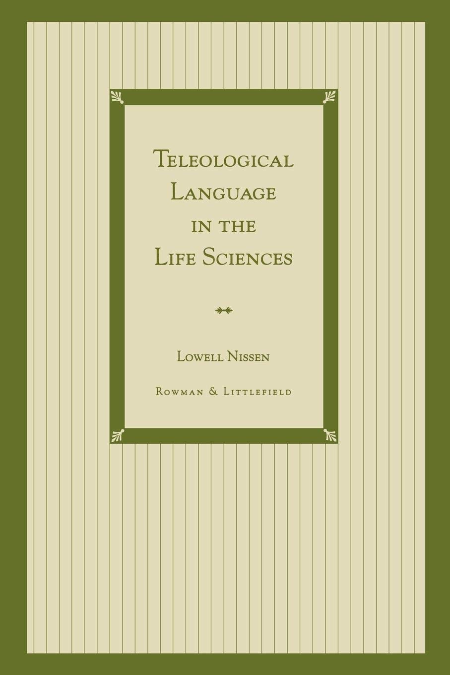 Teleological Language in the Life Sciences (Music Reference Collection; 65)