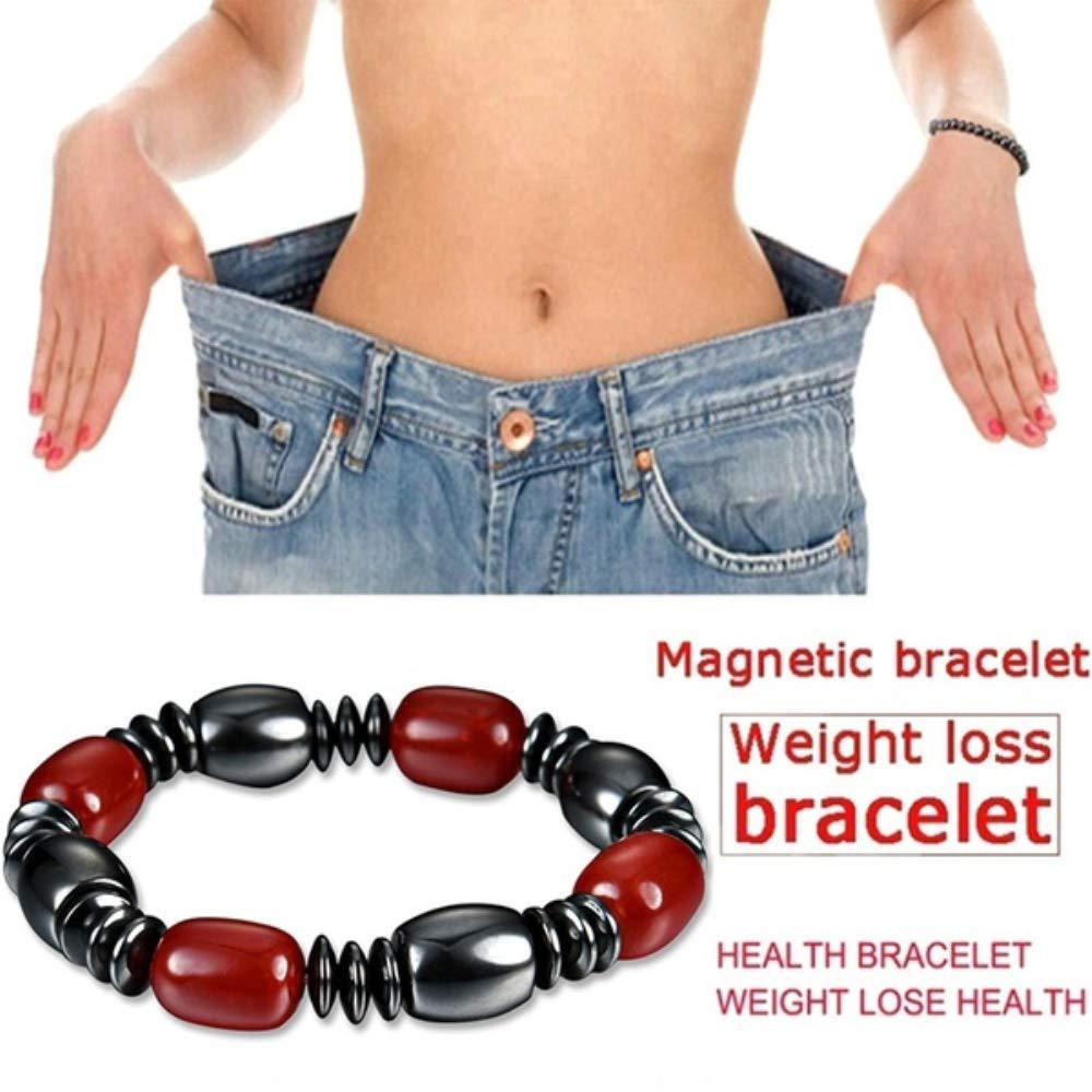 BoBoLing Fashion Magnetic Beaded Bracelet Black Pain Relief Slimming Bracelet