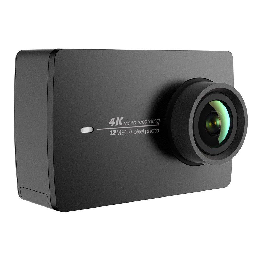 Cámara YI 4K Action / 30 fps, grabación de vídeo 12MP, con ángulo Amplio de 155° de 5,56cm, Pantalla LCD táctil de 2,2 Pulgadas, WiFi y aplicación para móvil, Comando por Voz, Color&nb