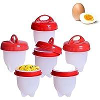 6Pcs Silicone Egg Boiler Cooker Poachers