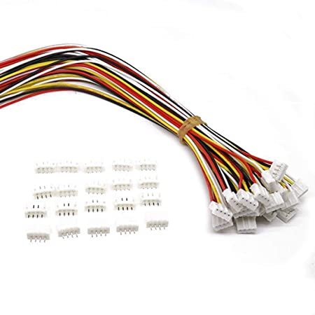 20 SETS Micro JST 2-Pin 100cm Male and Female Connector plug with Wires Cables
