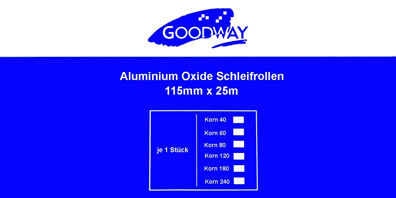 Rouleau de papier abrasif 115 mm x 25 m grain 40 oxyde daluminium