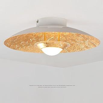 RAING Moderne Atmosphäre Führte Deckenleuchte Eisen Lampenschirm Runde Deckenleuchte  Moderne Kreative Schlafzimmer Wohnzimmer Dekoration Lampe (