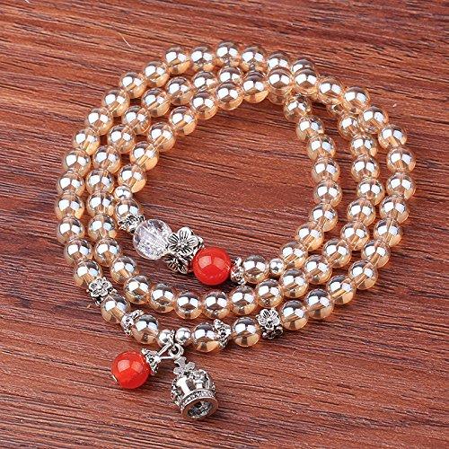 e56eed384e Natural Crystal Cat Eye Obsidian Beads Buddhist Prayer Mala Meditation  Necklace Bracelet