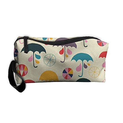 kla ju portable pencil bag purse pouch umbrella watermark stationery storage organizer cosmetic holder