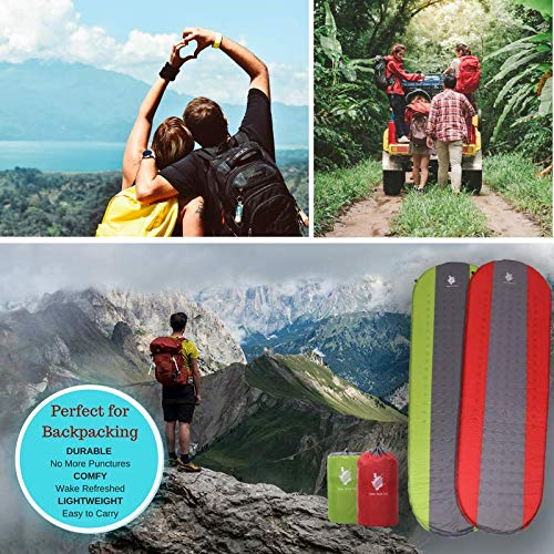 Open Road Self Inflating Sleeping Pad for Camping and Backpacking Lightweight Backpacking Gear Camping Mattress Air Mat