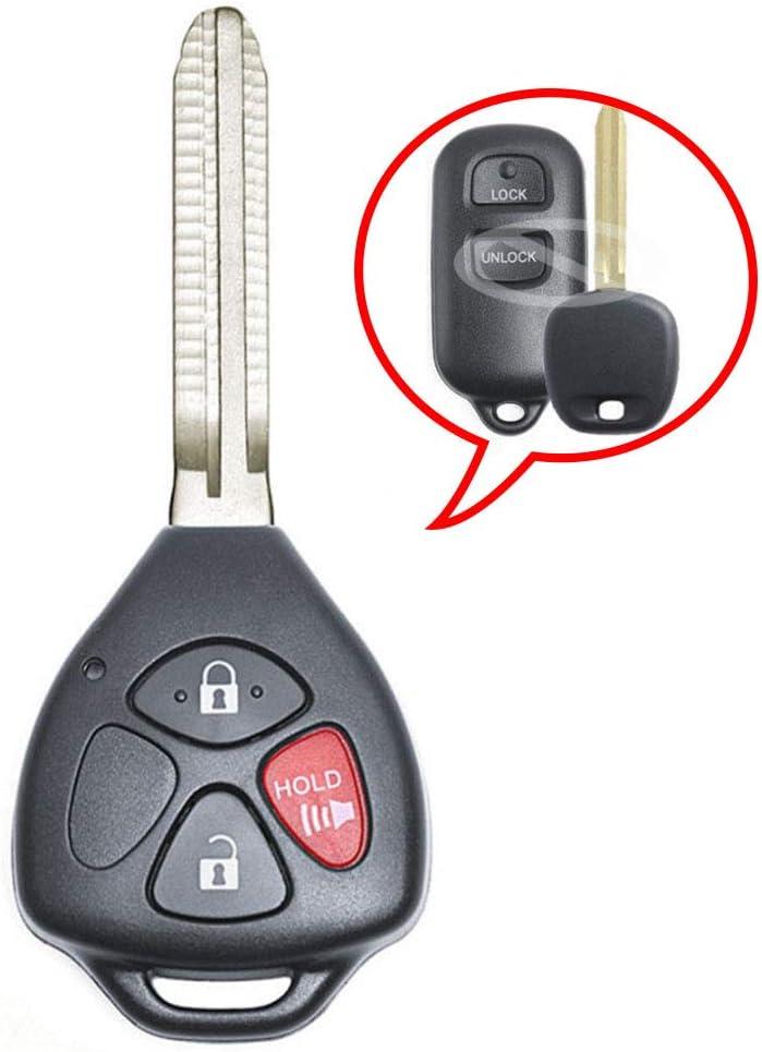 HYQ12BAN HYQ12BBX,HYQ1512Y Keymall keyless Entry Upgraded Remote Car Key 315MHz 4D67 Chip 3B Fob for Toyota Scion