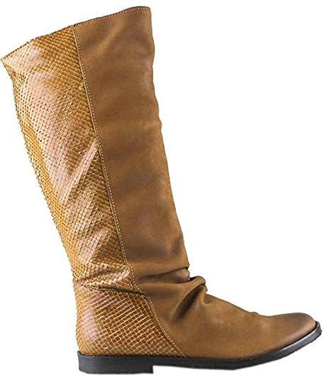 Felmini Boots Print Leather Snake Womens Tan 38 9072 Amazon Calf Hi 4grS84T