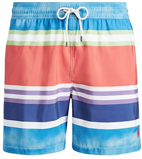 15a36946af Image Unavailable. Image not available for. Color: Polo Ralph Lauren Mens  Pony Logo Traveler Swim Trunk ...