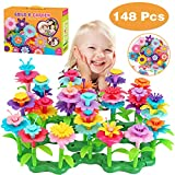 Dreampark Flower Building Toys, Garden Building Set for 3-7 Year Old Girls and Toddlers, Educational Toys Birthday Gifts Creativity Play for Kids (148 PCS)