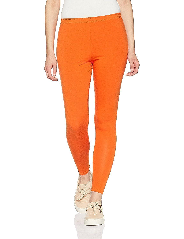 Lux Lyra Women's Pack of 1 Leggings (LYRA_AL_FS_17_1PC_Orange_Free Size)