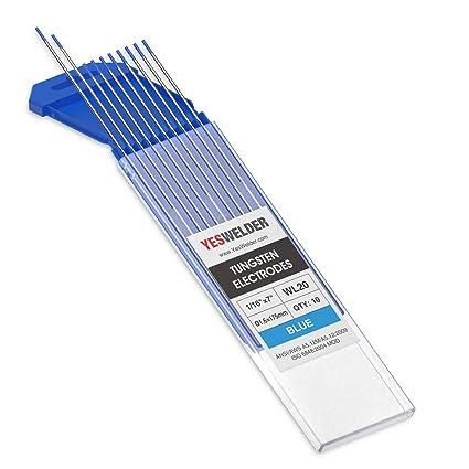 Amazon.com: Electrodo de tungsteno para soldadura TIG de 10 ...