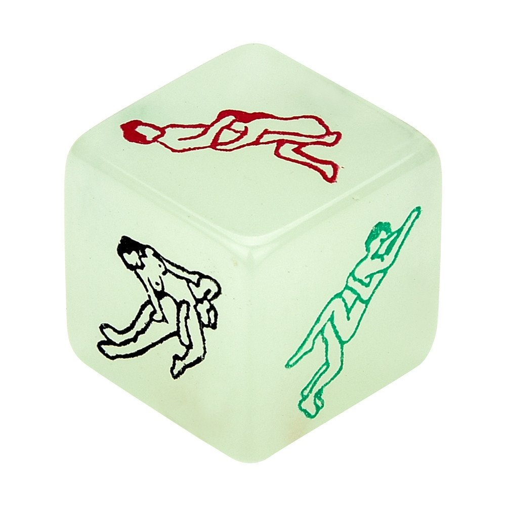 Luminous Funny Adult Posture Game Romance Erotic Craps Dice Pipe Sex Toys for Women Men Couple (1pc)