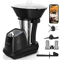 Aigostar Power Cook - Robot de cocina multifunción, 1200W, 12 programas, 36 recetas electrónicas, 6 velocidades, jarra…