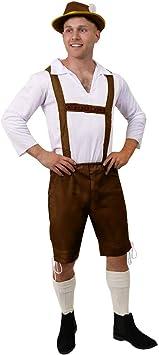 Da Uomo Lederhosen Oktoberfest Bavarese Costume Tedesco Outfit Smiffys