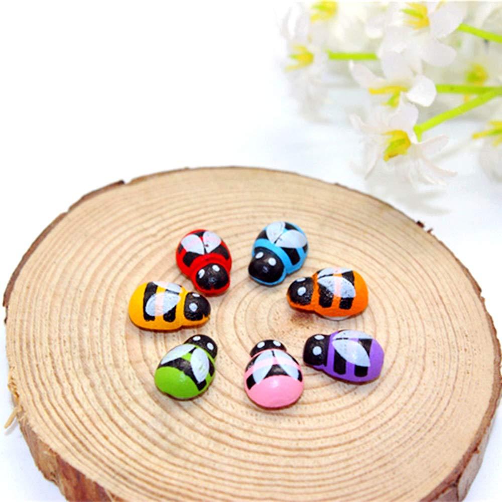 JZK 200 x Mini abeja de madera de auto-adhesivos de abejas para manualidades y decoracion scrapbooking bricolaje