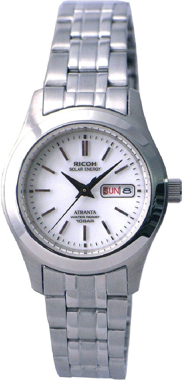 [リコー]RICOH 腕時計 ATRANTA(アトランタ) ソーラー充電 アナログ表示 スタンダード 10気圧防水 バーインデックス ホワイト 698004-13 レディース B002ECDUVS