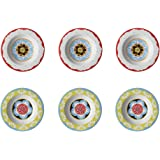 Nador Set of 6 Soup Plates Mixed Colours Mediterranean Style !