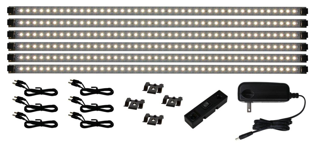 Inspired LED - Pro Series 42 LED Super Deluxe Kit - 3000K Warm White - Under Cabinet Lighting Kit LED Plug In