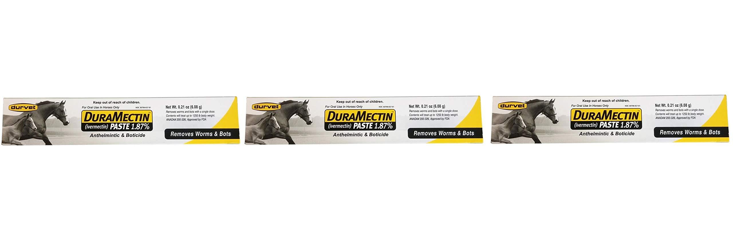 Duramectin Ivermectin Paste 1.87% for Horses, 0.21 oz (Thrее Рack)