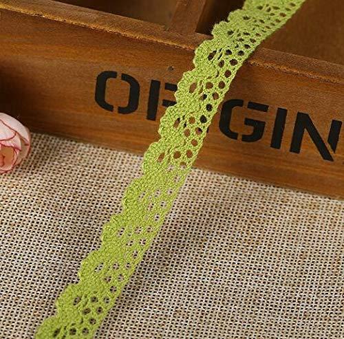 5 Yard Multicolor Lace Trim Wedding Bridal Ribbon Sewing DIY handcrafts (Color - Green) (Suede Scrunch Boot)