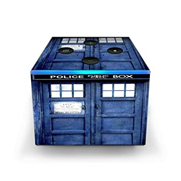Skin Decal Vinyl Wrap for Amazon Fire TV Cube & Remote Alexa Stickers Skins  Cover/Phone Booth, Tardis Call Box