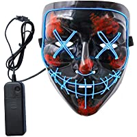 SURPCOS Halloween Mask LED Light up Purge Mask Festival Cosplay Halloween Costume
