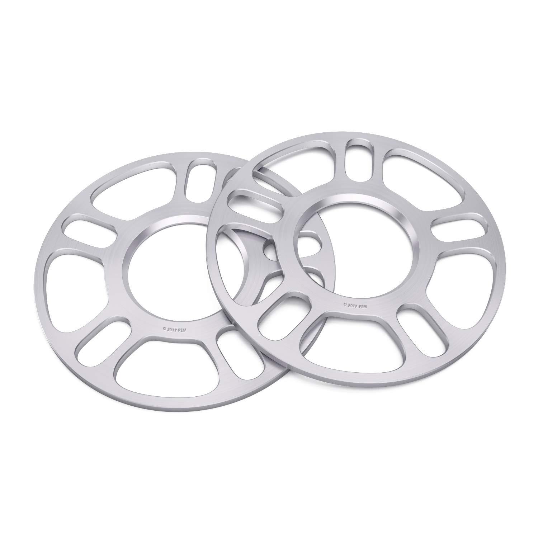 2pc 5mm Universal Wheel Spacers 5x100 5x108 5x110 5x112 5x114.3 5x4.5 5x115 5x4.53 5x120 5x120.7 5x120.65 5x4.75