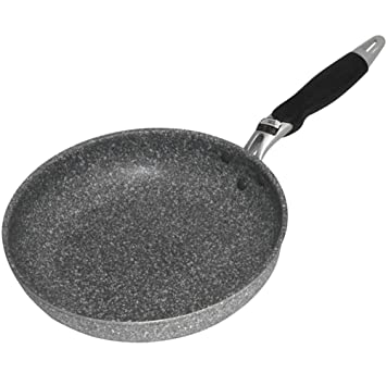 HM&DX Piedra Tierra Antiadherente Sartén,Sin pfoa Tipo Piedra Saltear el Pan con Comfort Grip