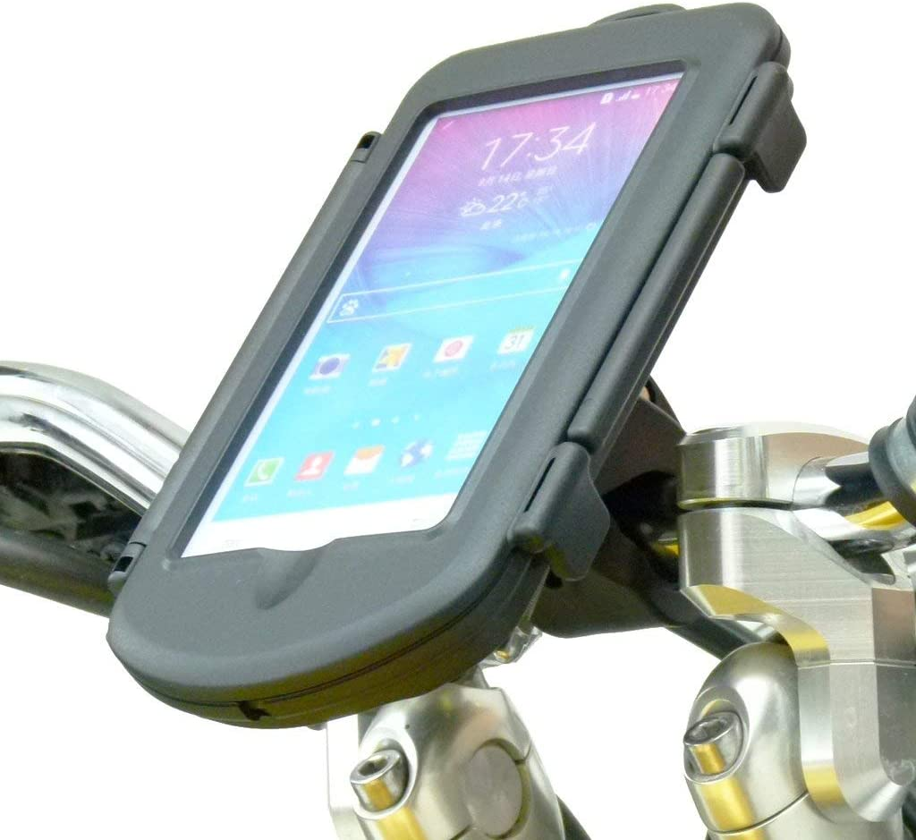 Mobile waterproof case for samsung galaxy note 4 a1221 motorcycle bike support