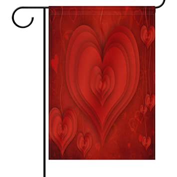 Amazon Com Valentine S Day Wedding Hearts Garden Yard Flag Banner
