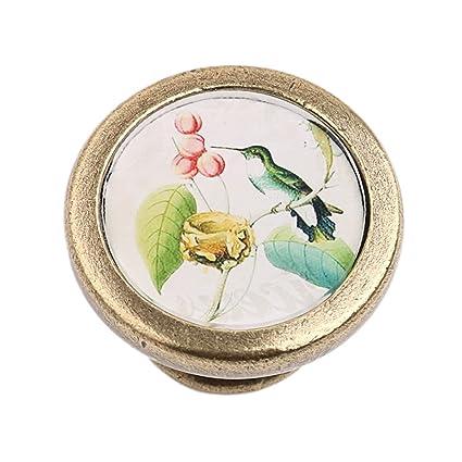 Miss and Mams Vintage Cabinet Door Drawer Dresser Handle Cupboard Bin Pull Knob Hardware - Bird