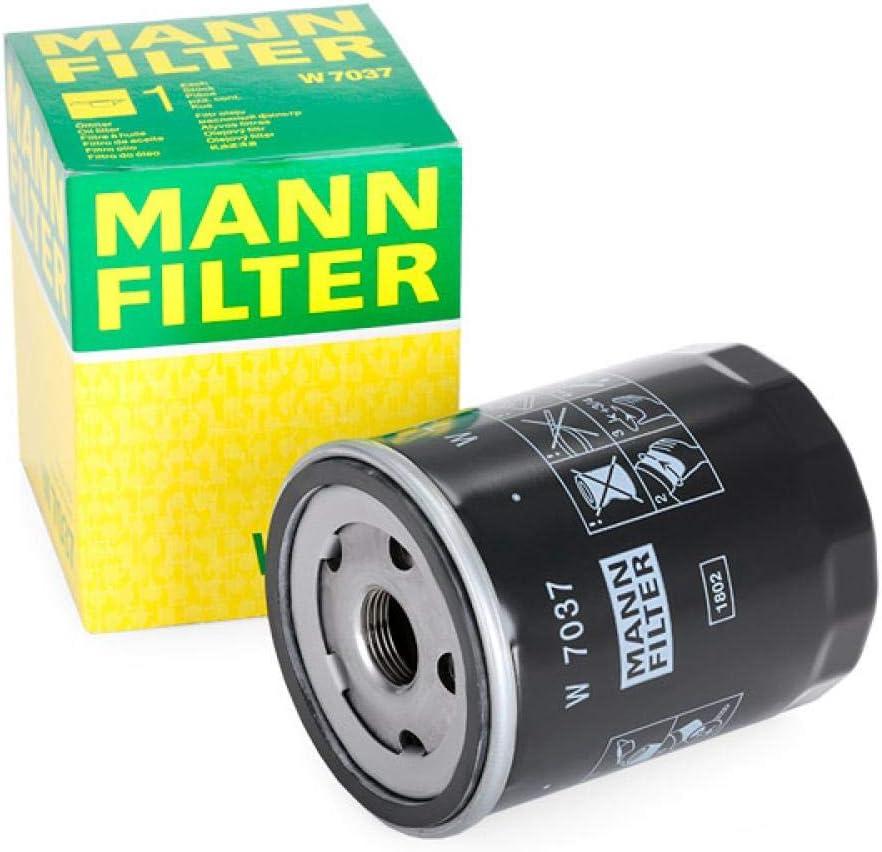 Original MANN-FILTER W 7037 f/ür PKW Schmier/ölwechselfilter