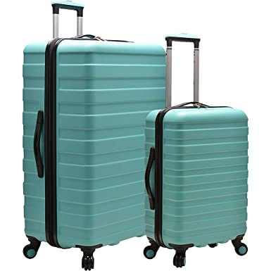 U.S. Traveler Cypress Colorful 2-Piece Small and Large Hardside Spinner Luggage Set, Mint