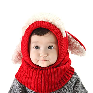 SHBUY Sombrero de bebé de Invierno, Invierno del bebé Niños Niñas Chicas Chicos Tejido Gorro