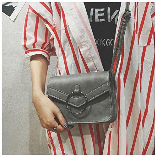 Crossbody Gray Mini Simple Bag Women ZOMUSA Shoulder New Retro RAZqXPaf