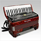 Excalibur German Weltbesten UltraLite 120 Bass 7 Switch Piano Accordion - Red