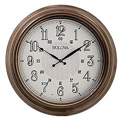 Bulova Key West Wall Clock, Brown