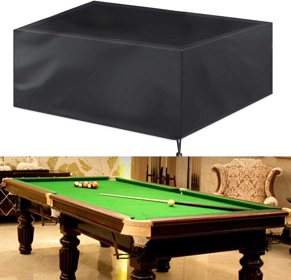 KOET - Funda para mesa de billar (impermeable), protección completa con cordón sólido 210D Oxford, 7/8/9 pies al aire libre, No nulo, como se muestra en la imagen, 260x135x82cm: Amazon.es: Hogar