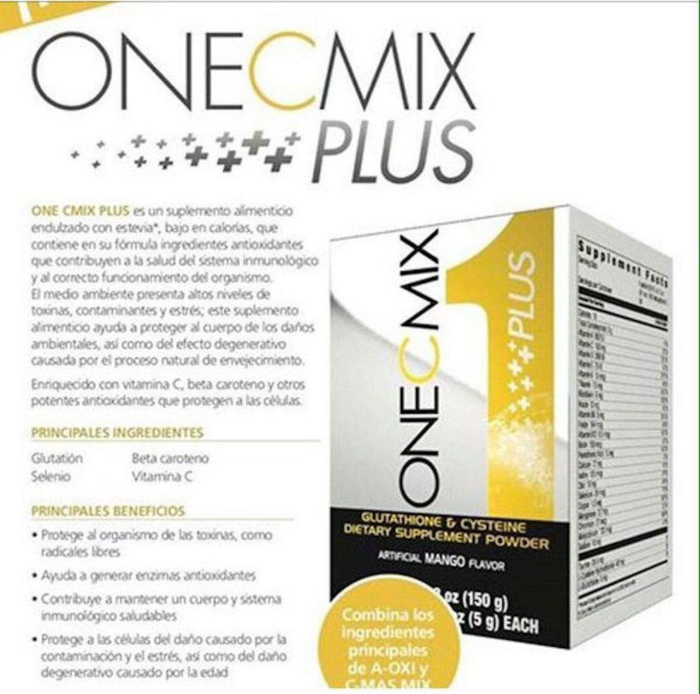 Amazon.com: Omnilife One C Mix Plus=Dual C Mix + One per Meal, Box with 30 Sachets (150g) Shipped by Liss: Health & Personal Care