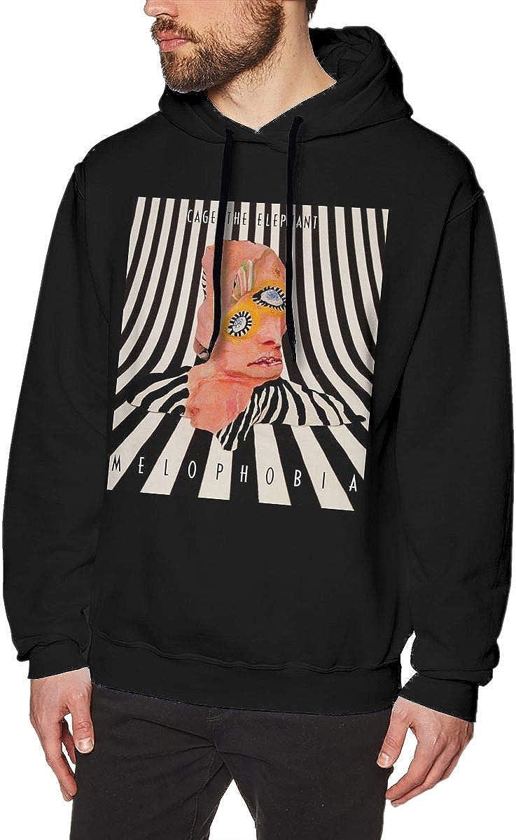 Pekivide Man Cage The Elephant /â/€/œMelophobia/â/€ Restoring Ancient Ways Black Hoodie Sweatshirt Jacket Pullover Tops