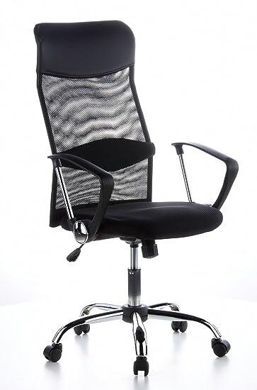 Bürosessel netz  hjh OFFICE 621100 Bürostuhl Chefsessel ARIA HIGH Netzstoff schwarz ...