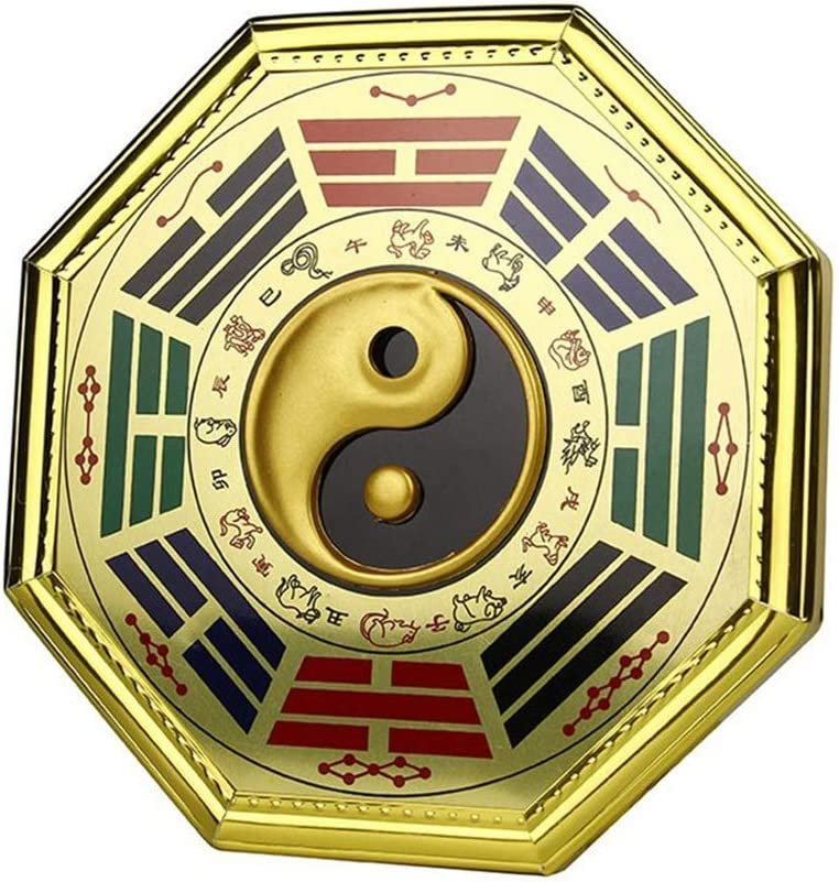 Amazon Com Hfsyym6 Feng Shui Wallpaper Yin Yang Baguas Bagua Mirror For Protection And Prosperity And Treasure Wealth Luckly 6 5 Home Ornament Home Kitchen