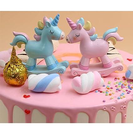 Amazon.com: Decoración para tartas de unicornio, 2 unidades ...