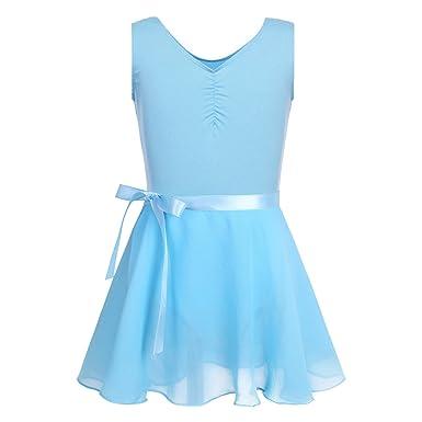 Agoky Enfant Fille Robe Ballet Danse Classique Léotard Robe Mariage Baptême  Mousseline Jupe Danse Tutu + e09b32214b3