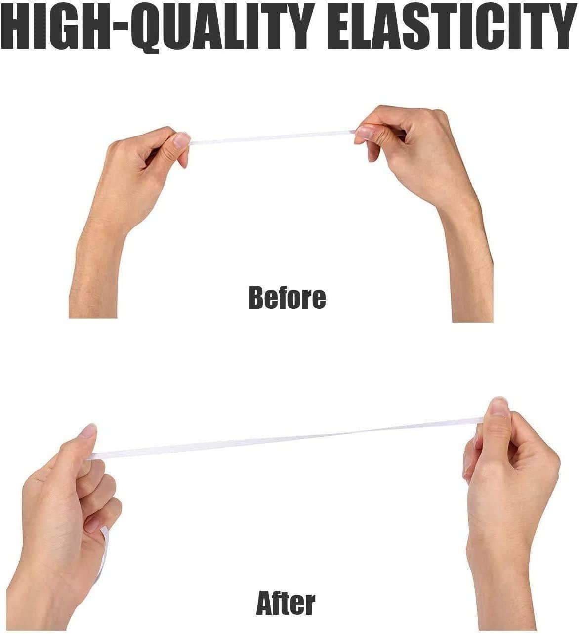 Elastique Couture Tissu Rubans Extensible pour Artisanat /à Coudre en Tricot Bricolage Loisir Cr/éatif V/êtements Blanc Plate /Élastique Couture YIDON 35 M/ètre 5mm Elastique Couture