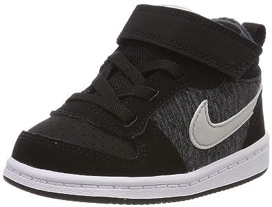 364773b616 Nike Baby Boys Court Borough Mid Se TDV Low-Top Sneakers, Multicolour (Black