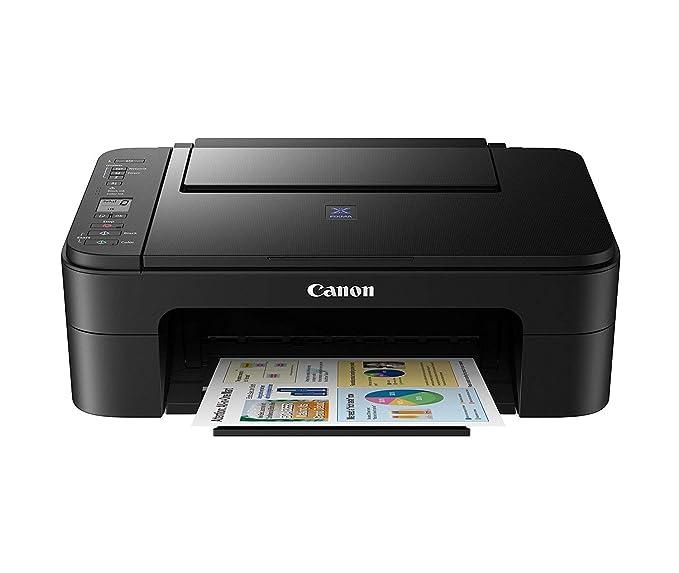 Canon Pixma E3170 All in One Inkjet Printer (Black) Inkjet Printers at amazon